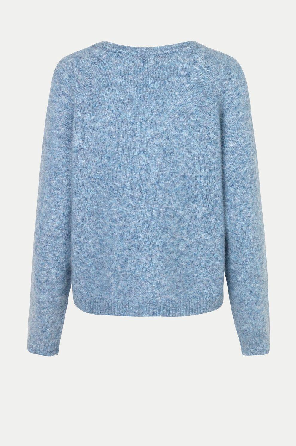 Second Female Brook knit Blue bonnet – Studione9en